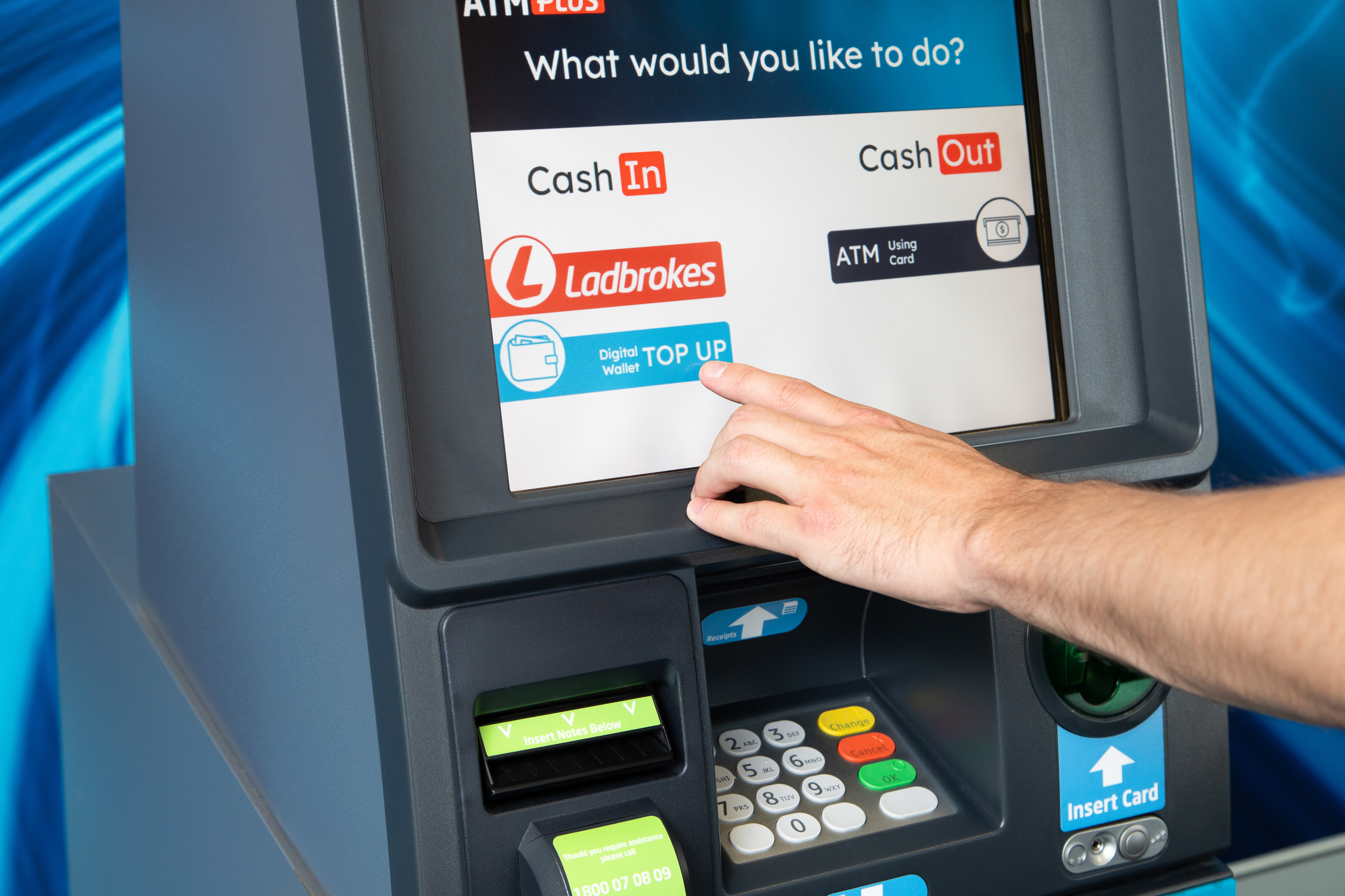 Now you can top top up your Ladbrokes wallet at the ATM
